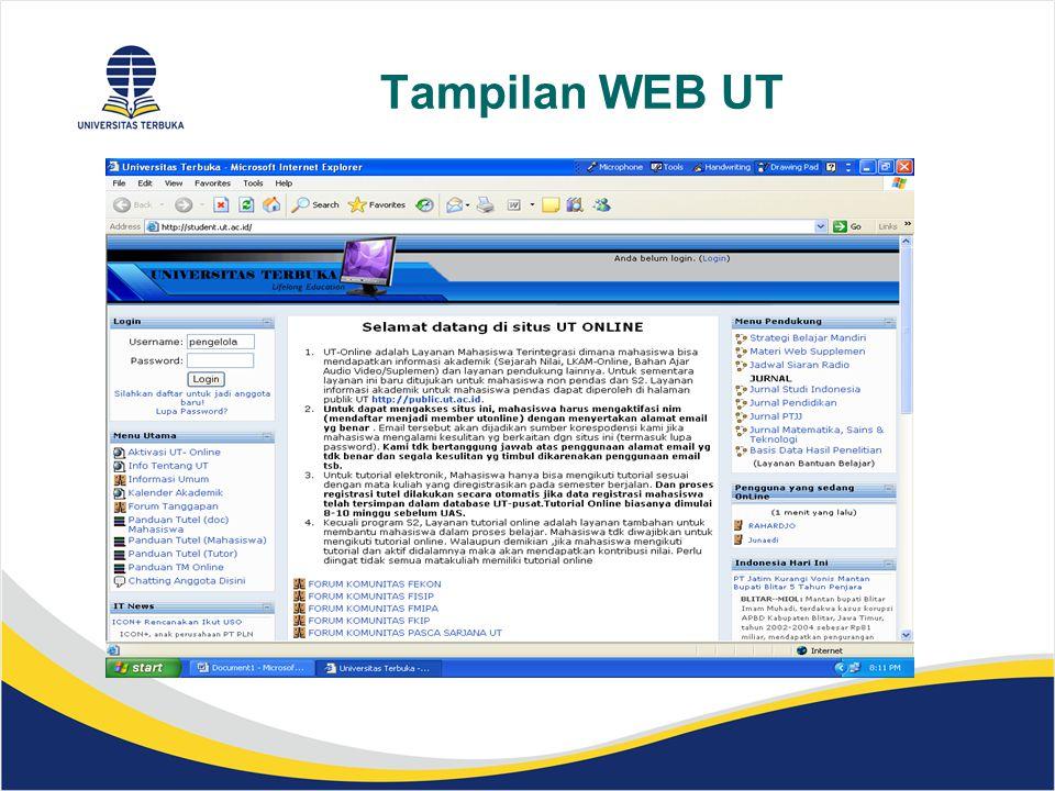 Tampilan WEB UT