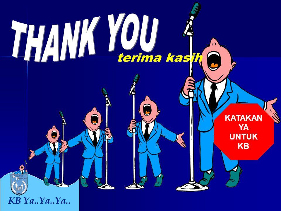 THANK YOU terima kasih KATAKAN YA UNTUK KB KB Ya..Ya..Ya..