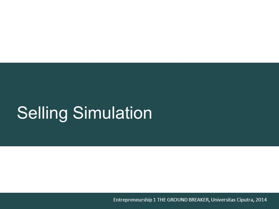 Selling Simulation