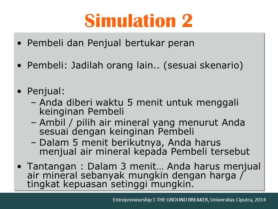 Simulation 2 Pembeli dan Penjual bertukar peran