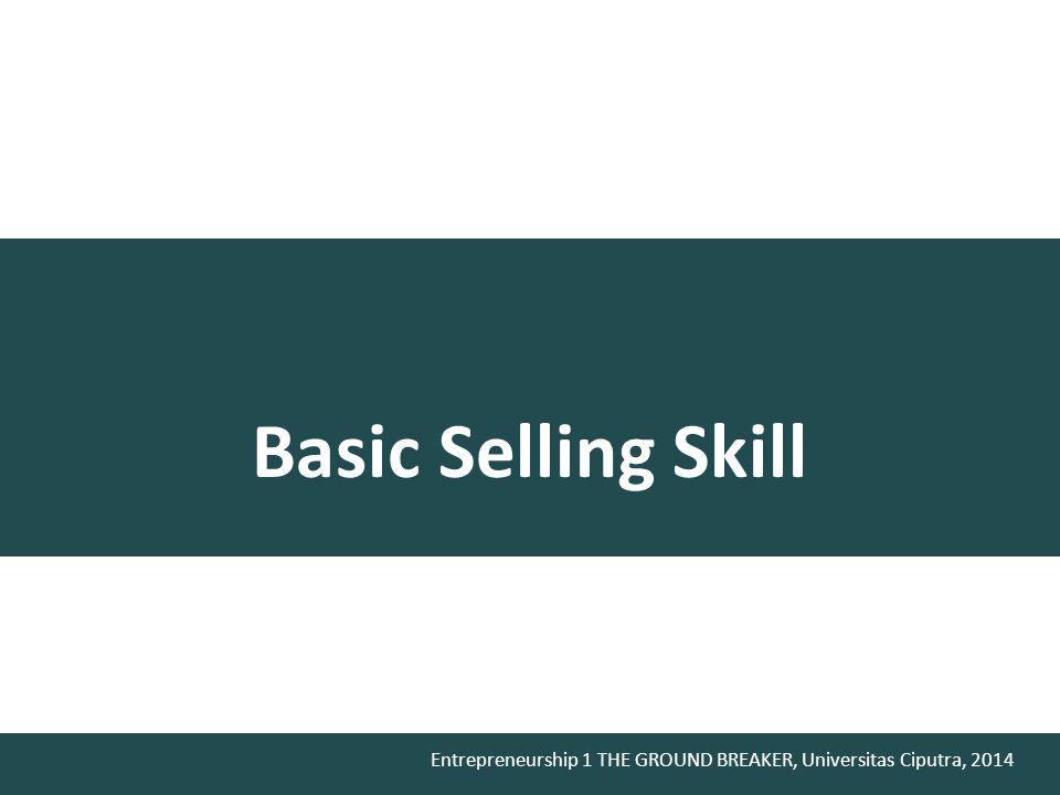 Basic Selling Skill