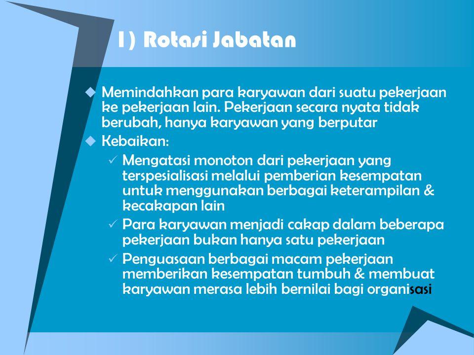1) Rotasi Jabatan