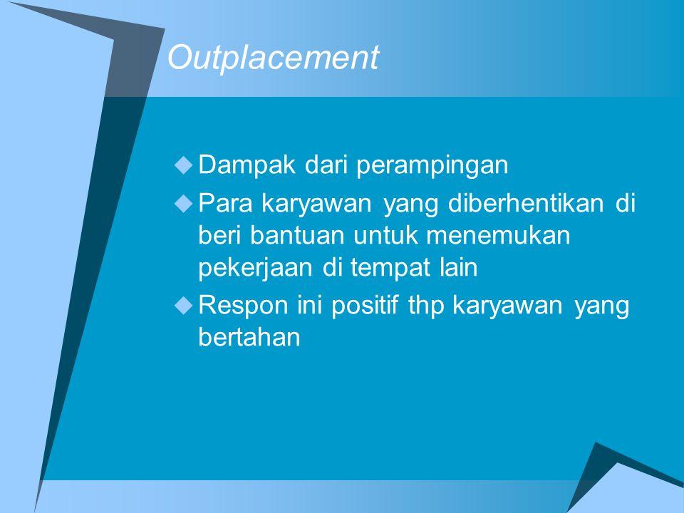 Outplacement Dampak dari perampingan