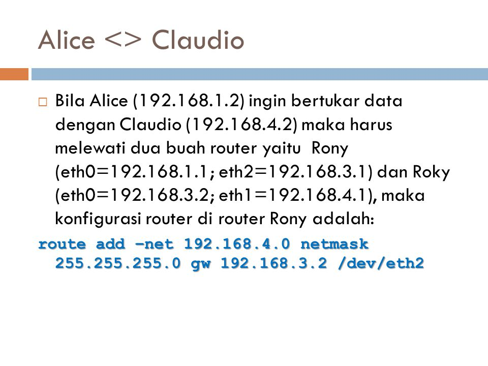 Alice <> Claudio