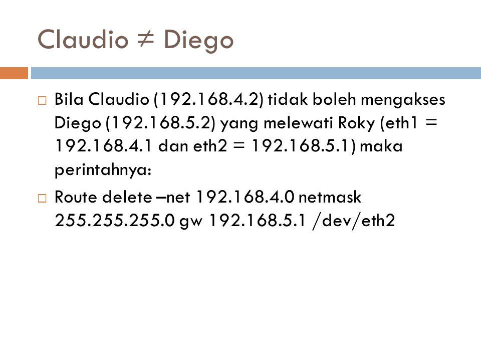Claudio ≠ Diego