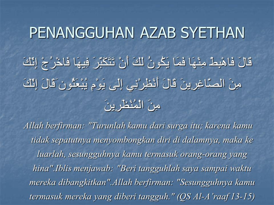PENANGGUHAN AZAB SYETHAN