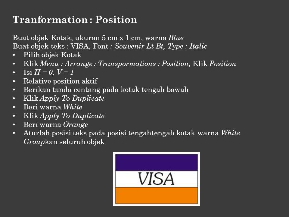 Tranformation : Position