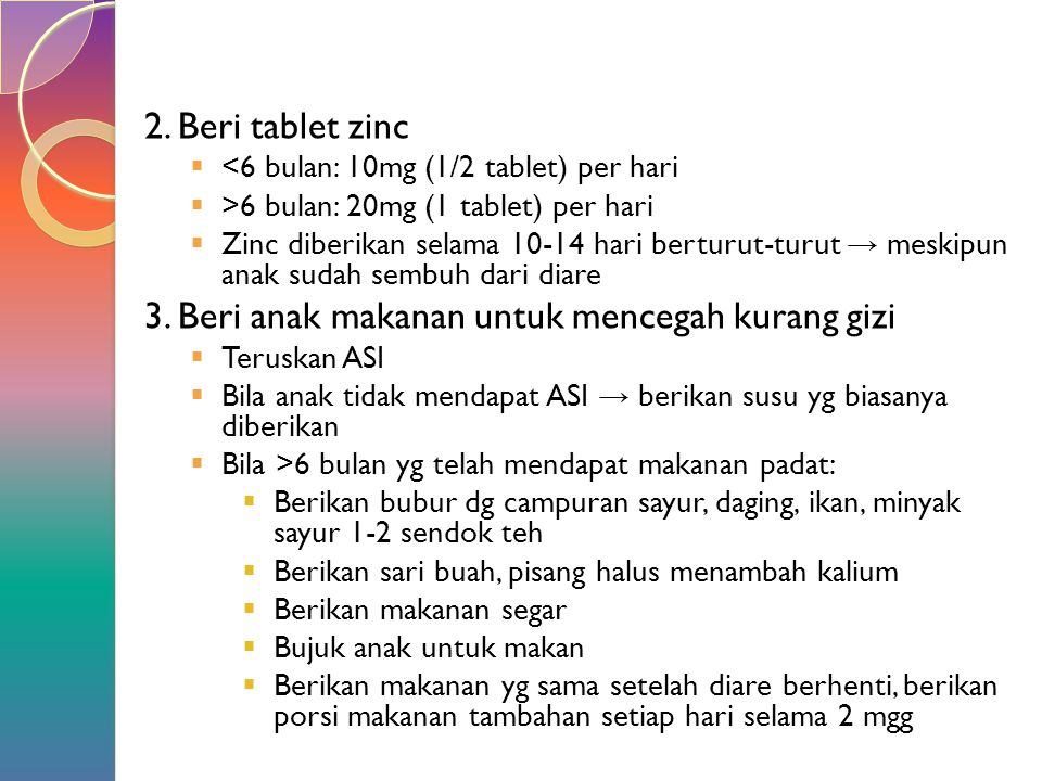 3. Beri anak makanan untuk mencegah kurang gizi