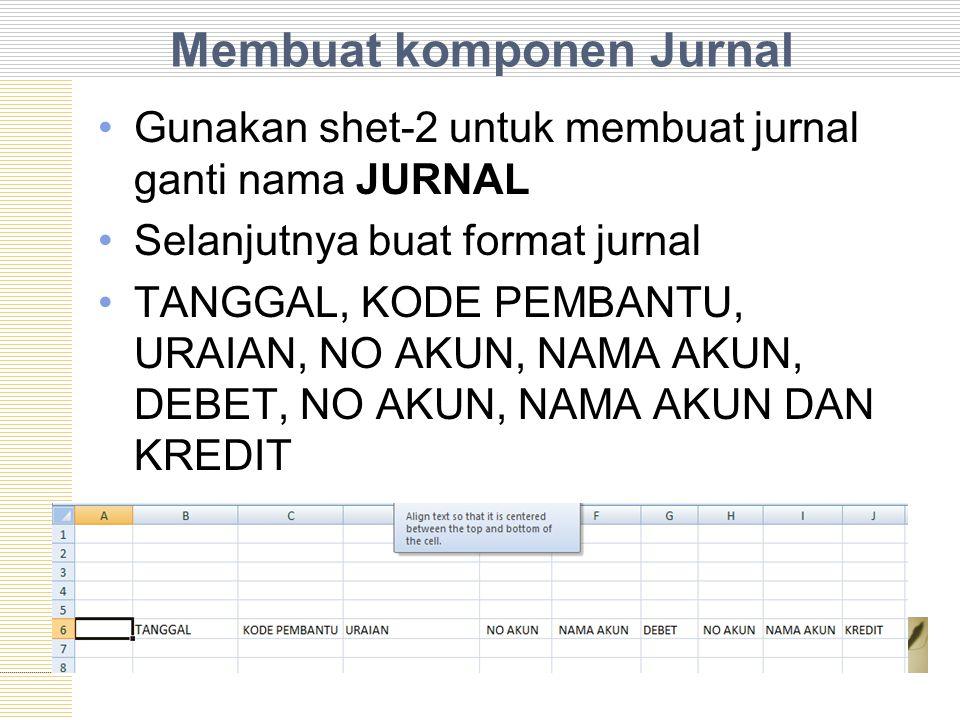 Membuat komponen Jurnal