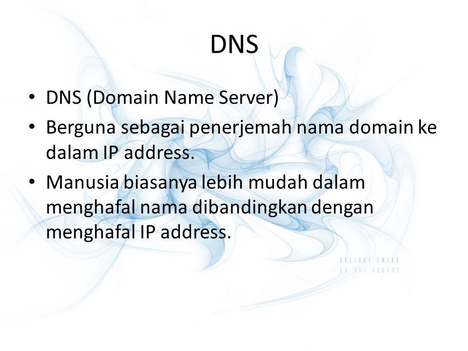 DNS DNS (Domain Name Server)