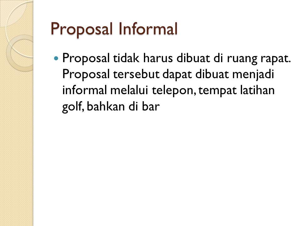 Proposal Informal