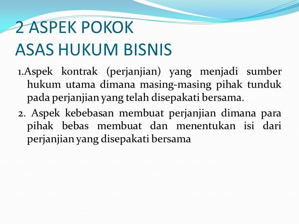 2 ASPEK POKOK ASAS HUKUM BISNIS