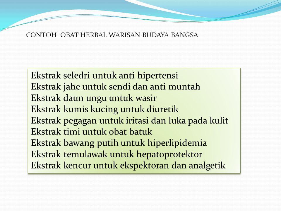 Ekstrak seledri untuk anti hipertensi