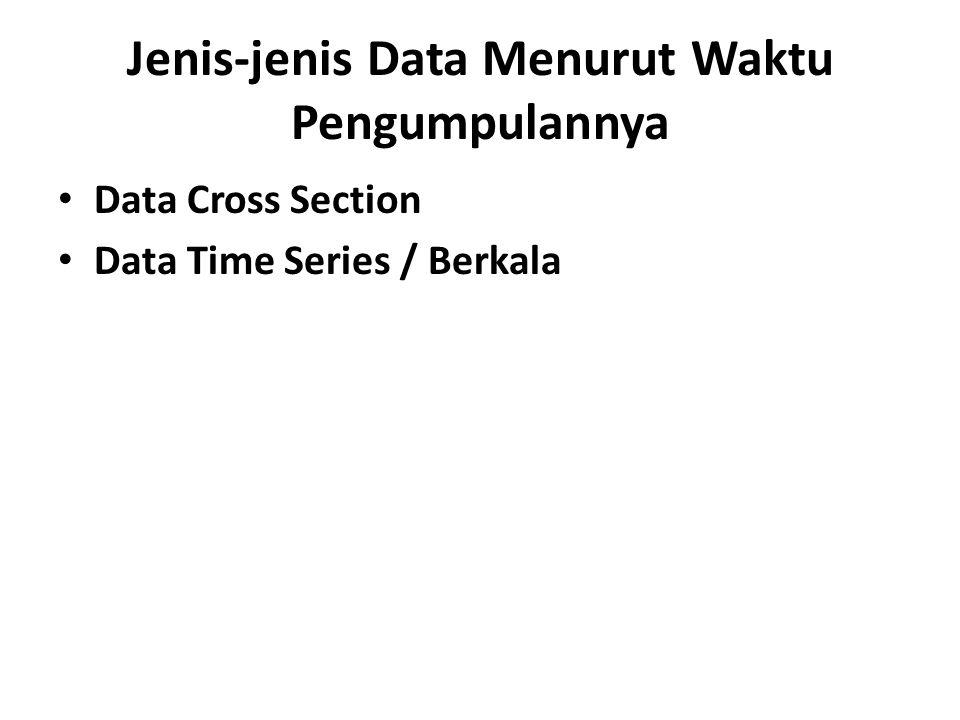 Jenis-jenis Data Menurut Waktu Pengumpulannya