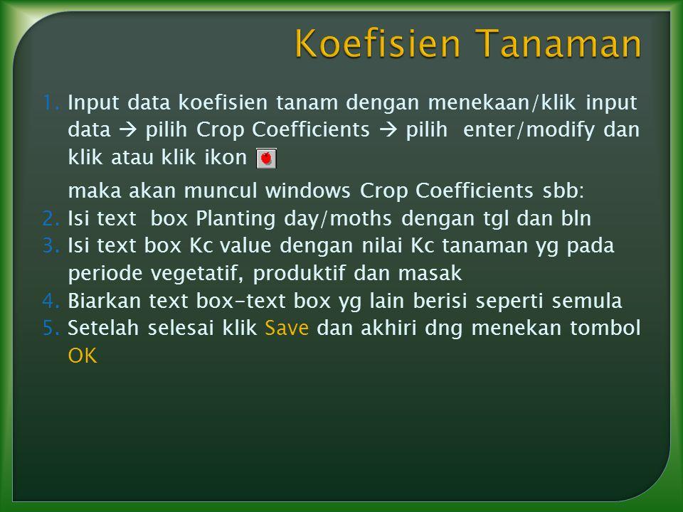 Koefisien Tanaman