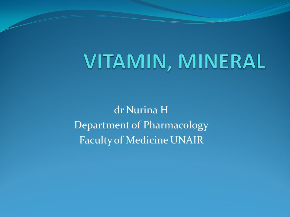 dr Nurina H Department of Pharmacology Faculty of Medicine UNAIR