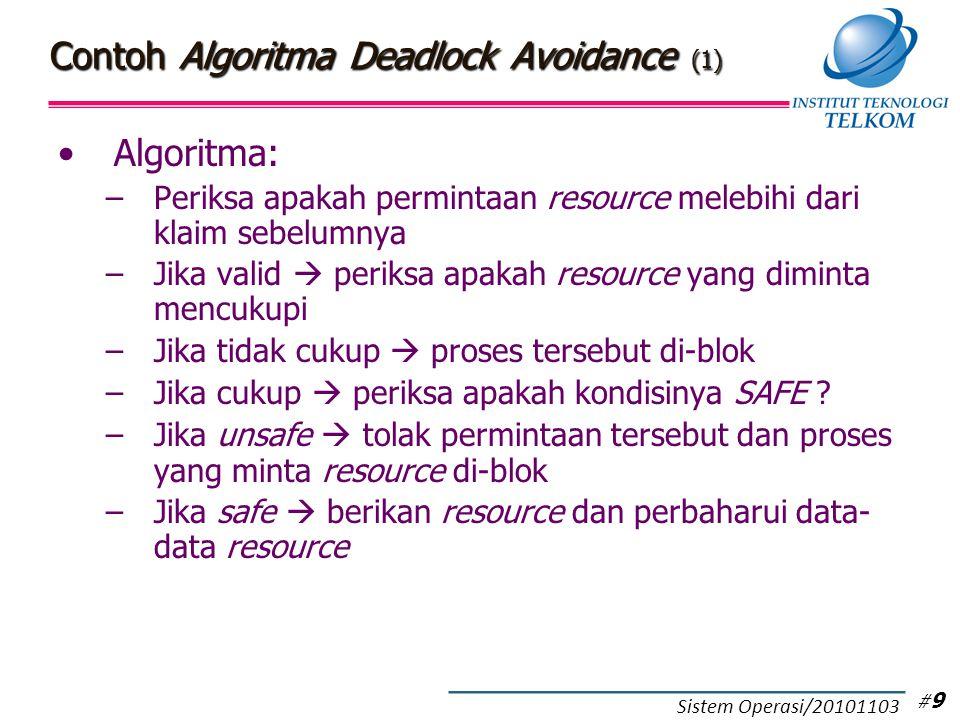 Contoh Algoritma Deadlock Avoidance (2)