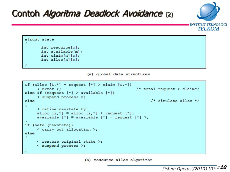 Contoh Algoritma Deadlock Avoidance (3)