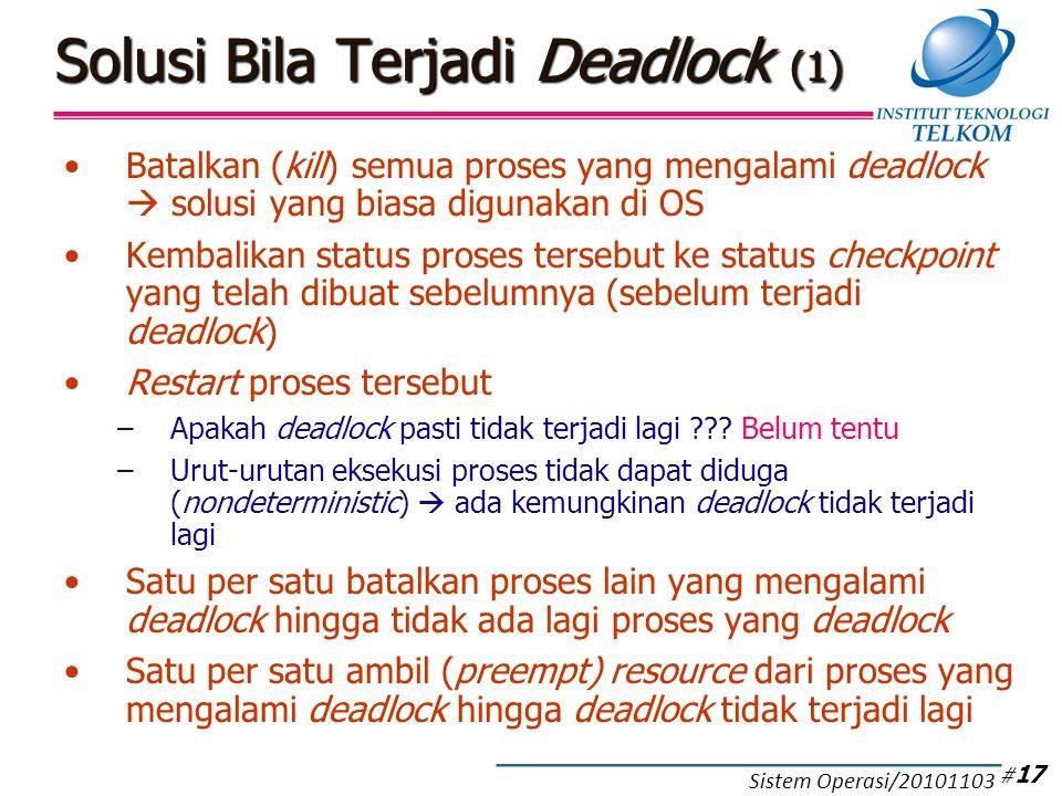 Solusi Bila Terjadi Deadlock (2)