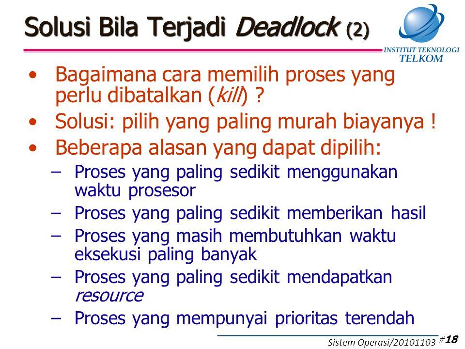Perbandingan Tiga Metode Penanganan Deadlock