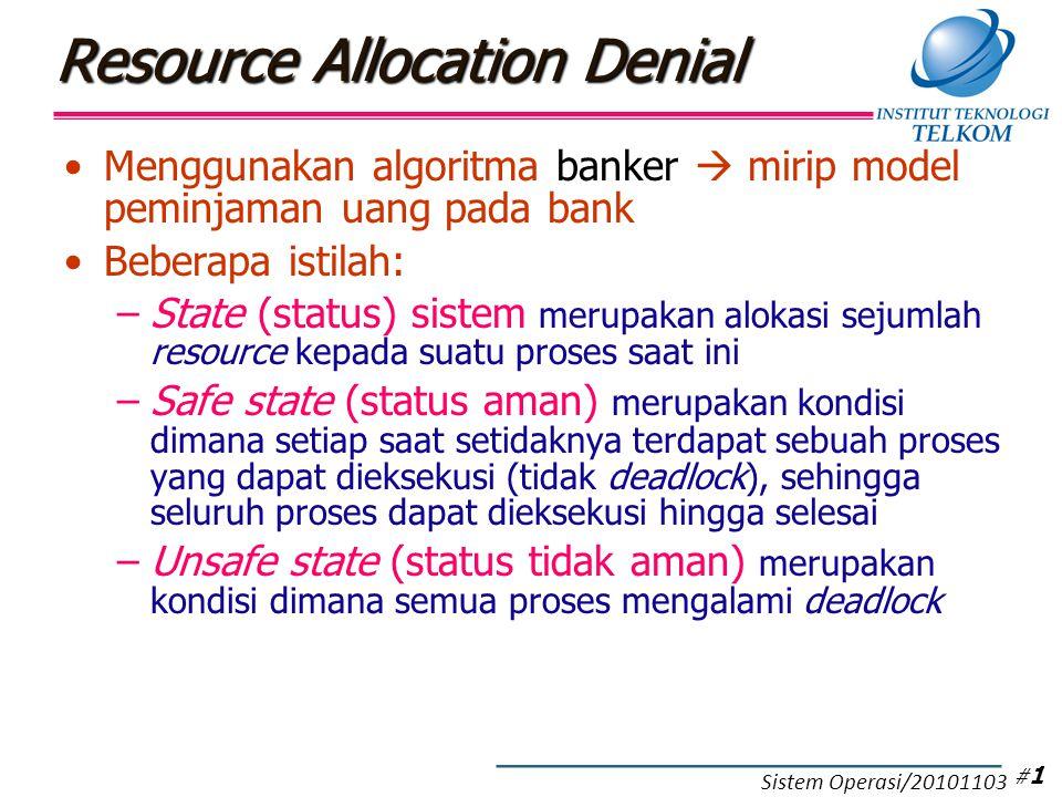 Contoh Deadlock Avoidance (1)