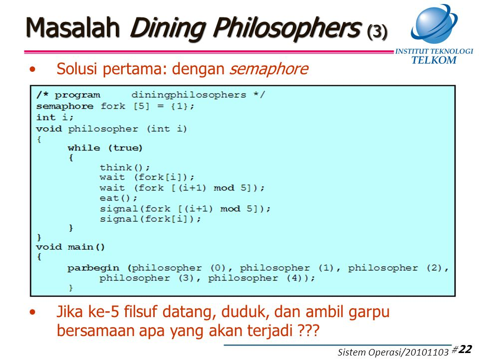 Masalah Dining Philosophers (4)