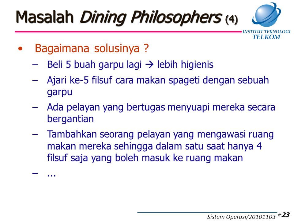Masalah Dining Philosophers (5)