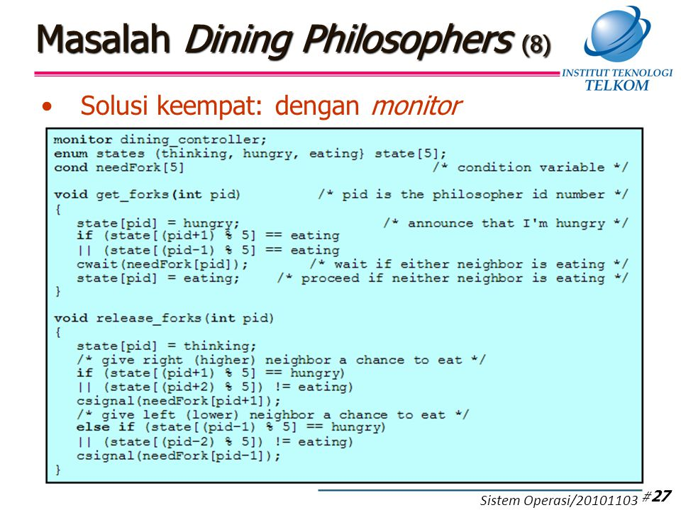 Masalah Dining Philosophers (9)