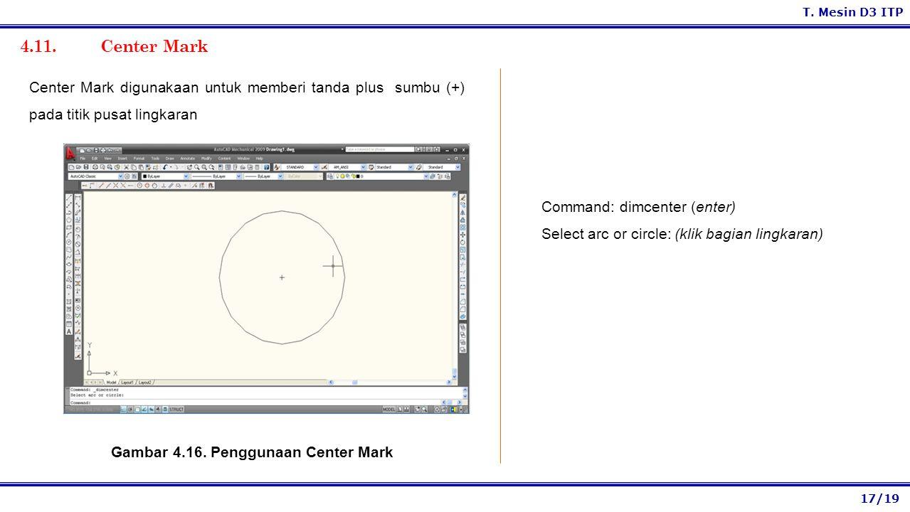 Gambar 4.16. Penggunaan Center Mark