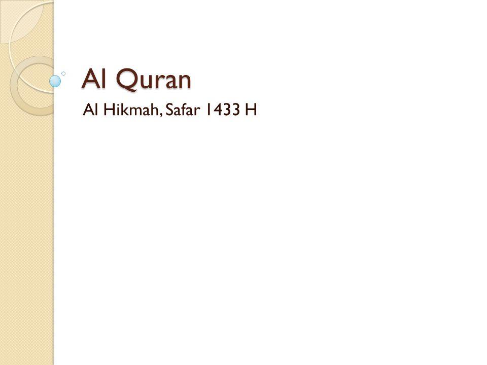 Al Quran Al Hikmah, Safar 1433 H