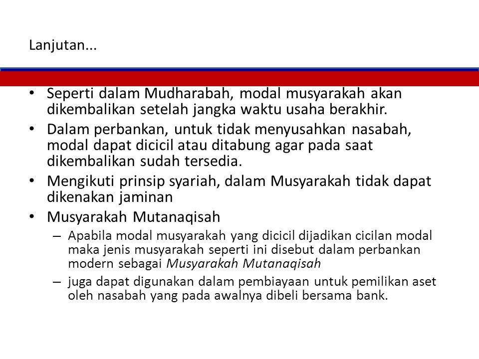 Musyarakah Mutanaqisah