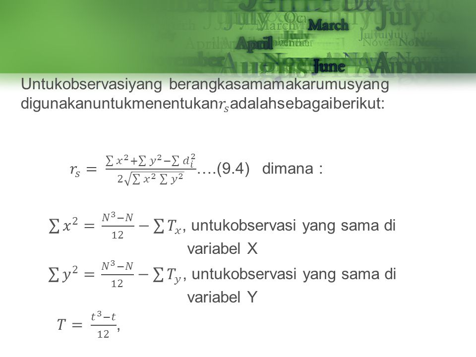 𝑟 𝑠 = 𝑥 2 + 𝑦 2 − 𝑑 𝑖 2 2 𝑥 2 𝑦 2 ….(9.4) dimana :