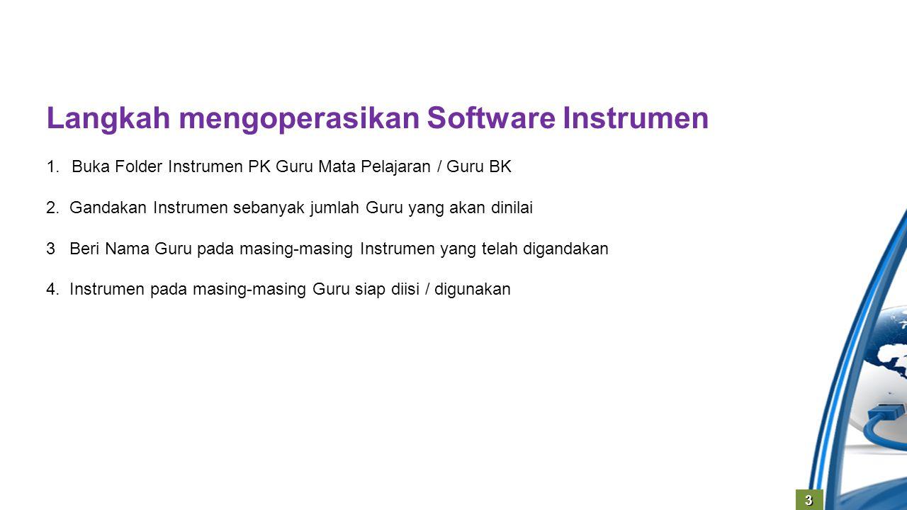 Langkah mengoperasikan Software Instrumen
