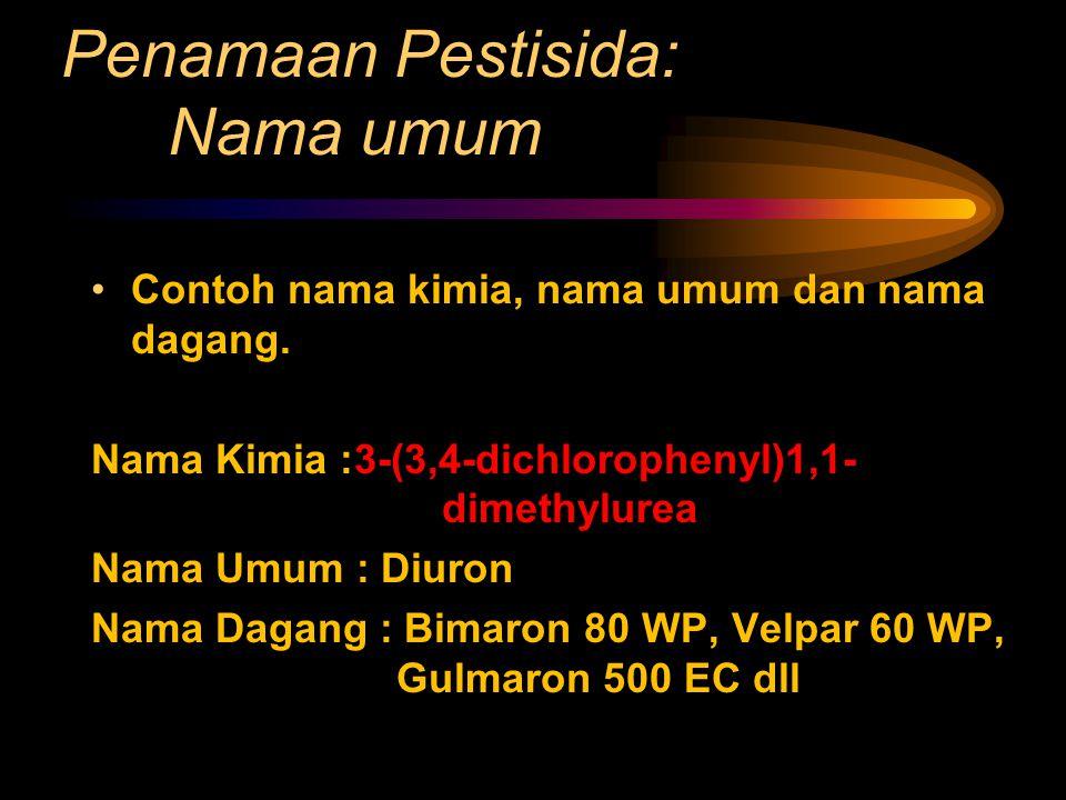 Penamaan Pestisida: Nama umum