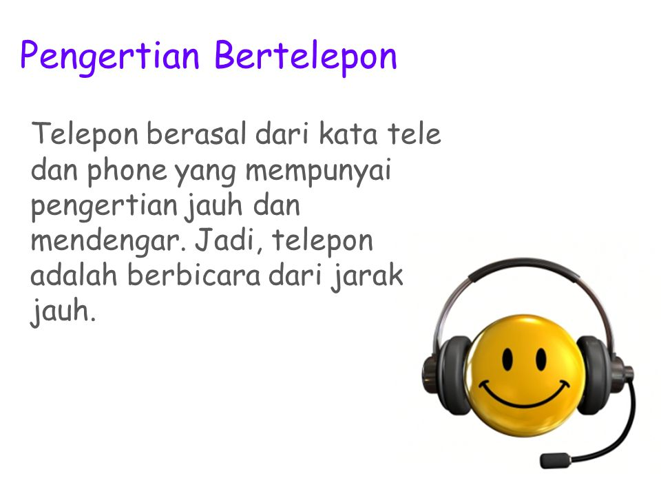 Pengertian Bertelepon