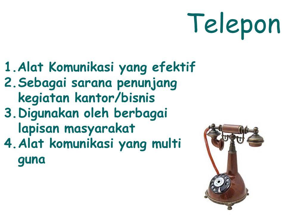 Telepon Alat Komunikasi yang efektif