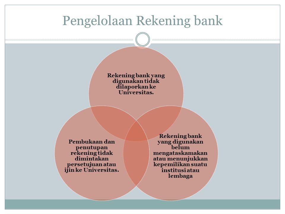 Pengelolaan Rekening bank