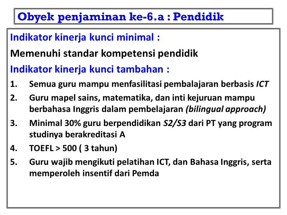 Obyek penjaminan ke-6.a : Pendidik