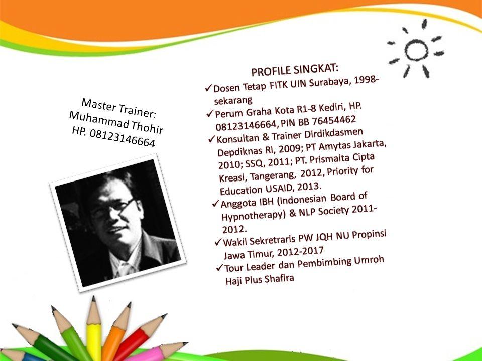 PROFILE SINGKAT: Master Trainer: Muhammad Thohir HP. 08123146664