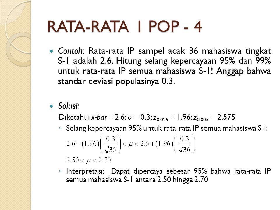 RATA-RATA 1 POP - 4