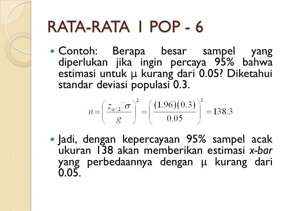 RATA-RATA 1 POP - 6