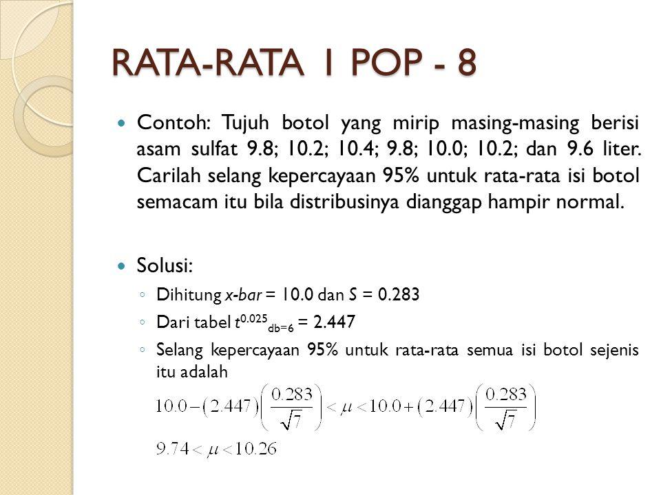 RATA-RATA 1 POP - 8