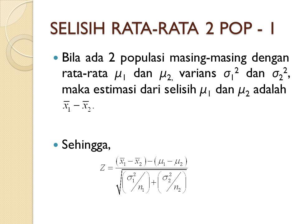 SELISIH RATA-RATA 2 POP - 1