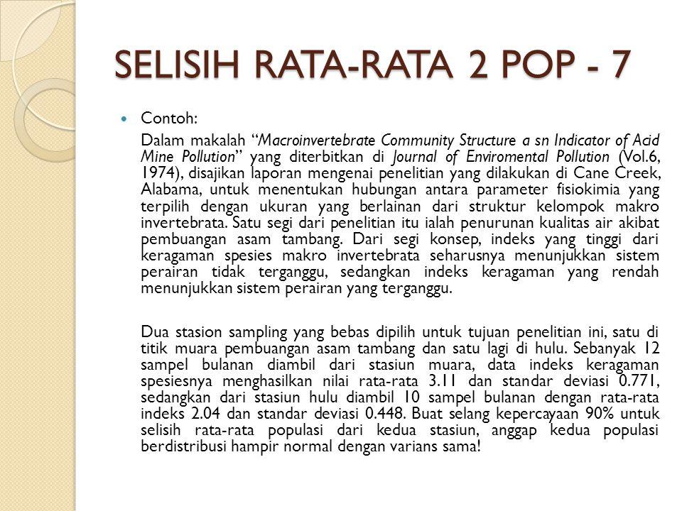 SELISIH RATA-RATA 2 POP - 7