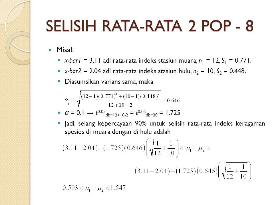 SELISIH RATA-RATA 2 POP - 8