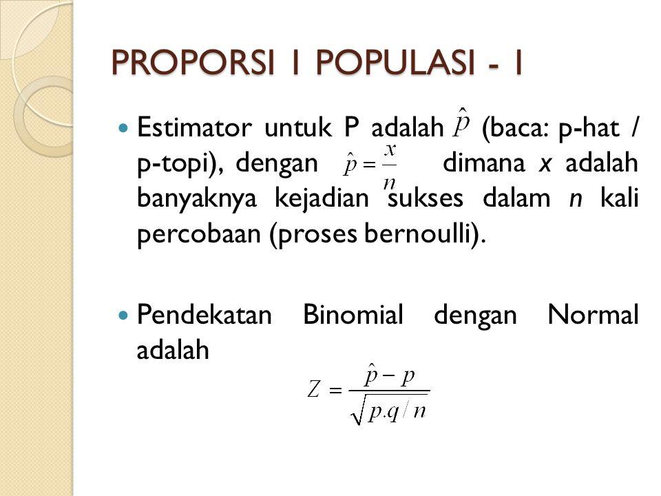 PROPORSI 1 POPULASI - 1