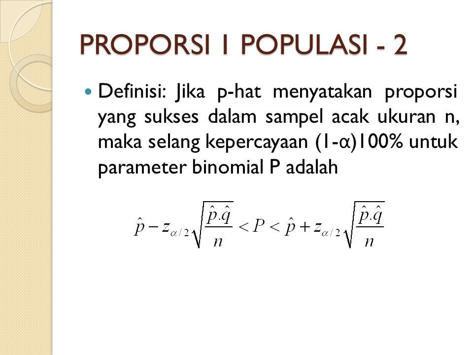 PROPORSI 1 POPULASI - 2