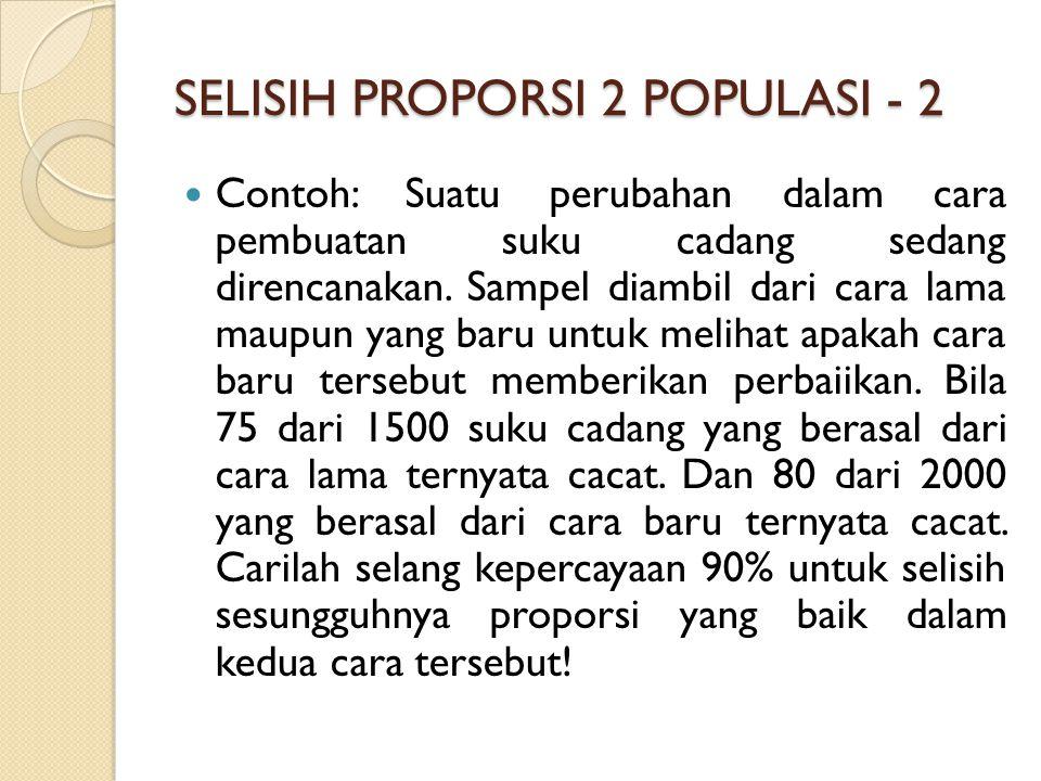 SELISIH PROPORSI 2 POPULASI - 2