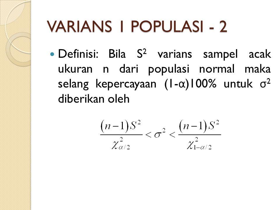 VARIANS 1 POPULASI - 2