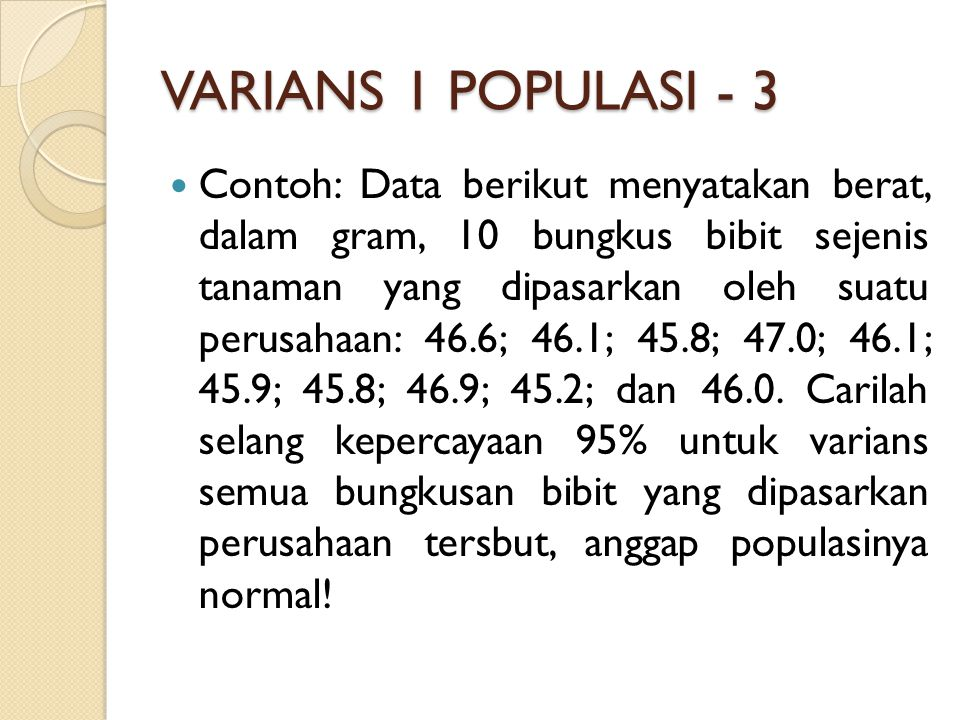 VARIANS 1 POPULASI - 3